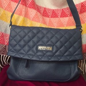 NWOT Kenneth Cole Reaction Navy Quilted Crossbody